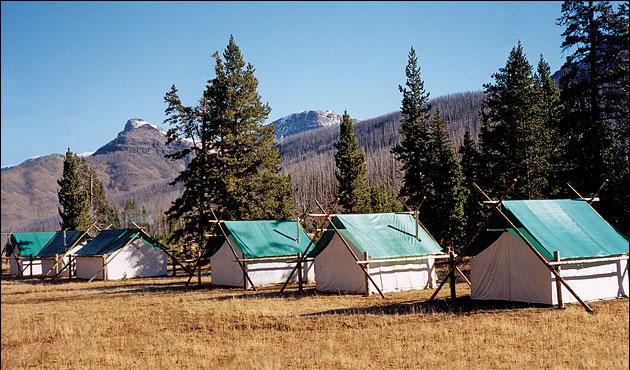 Elk Camp in the Absaroka-Beartooth Wilderness